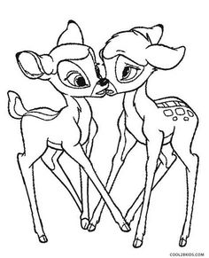 Bambi Coloring Page 13