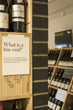 """Bin-end wines are our """"last chance to buy"""" bottles; these are usually the last few examples of a particular vintage or line which are ready for drinking and excellent value. Photography by Joakim Blockstrom. Berry Bros, Wine And Spirits, Stores, Wine Rack, Wines, Warehouse, Drinking, Berries, Cave"""