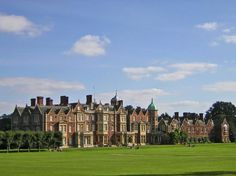 Sandringham House, Norfolk, country home of the British royal family. It was rebuilt on a grand scale by Edward VII in 1870, to designs by architect A.J. Humbert. Additions and alterations made by R.W. Edis in 1883 and 1891.