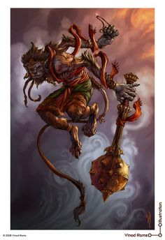 'Hanuman' by Vinod Rams Hanuman Tattoo, Hanuman Chalisa, Krishna, Hanuman Ji Wallpapers, Shiva Lord Wallpapers, Hanuman Images, Hanuman Photos, Hindu Deities, Hinduism