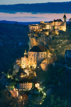 Rocamadour in south-western France. - On my top 10 list of places to see in France. Love this place. Places Around The World, Oh The Places You'll Go, Places To Travel, Places To Visit, Around The Worlds, Dream Vacations, Vacation Spots, Rocamadour France, Dordogne