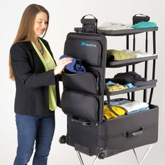 Amazon.com: ShelfPack - Revolutionary suitcase with built-in shelves.: Clothing