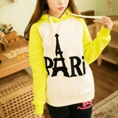 Eiffel Tower sweatshirt raglan sleeve Paris letter embroidered hoodies