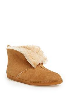 Minnetonka+Sheepskin+Ankle+Boot+Slipper+(Women)+available+at+#Nordstrom