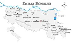 Explore the Emilia Romagna region with this map and travel guide showing where to go.