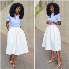 White Bodysuit   Gingham Midi Skirt | My Style | Pinterest ...
