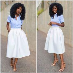Piper Stripe Lemon Midi Skirt | Regram, Skirts and Stripes