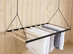 Hanging Laundry Drying Rack – Sheila Maid – Laundry Hanging Rack – Clothing Airer – Wall / Ceiling M Laundry Hanging Rack, Hanging Clothes Drying Rack, Wall Mounted Drying Rack, Drying Rack Laundry, Hanging Racks, Laundry Room Remodel, Laundry In Bathroom, Indoor Clothes Lines, Diy Furniture