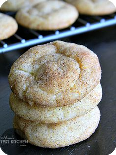 Vanilla Pudding Snickerdoodles by Mom's Test Kitchen. Pudding is the secret weapon in these little gems!
