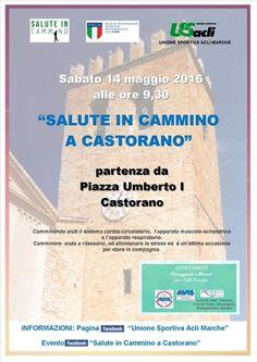 Salute in cammino farà tappa a Castorano il 14 maggio