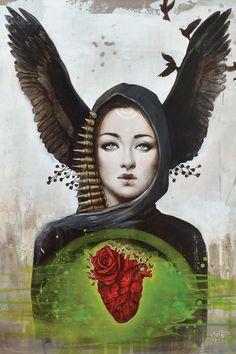 Morgane by Sophie Wilkins - canvas print