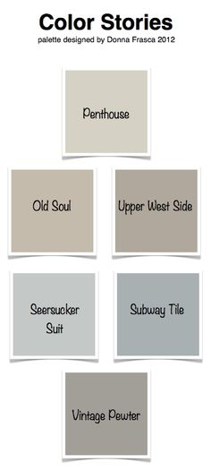 A Color Specialist in Charlotte: Color Stories for the entire home! Room Colors, Wall Colors, House Colors, Grey Colors, How To Clean Pewter, Paint Themes, Pallet Painting, Kitchen Paint, Kitchen Tips