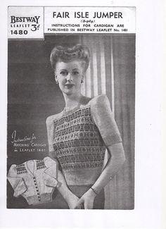 Ladies Fair Isle Sweater Ladies Jumper Vintage Sweater