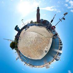 Little Planet 360 Grad Fotografie Bremerhaven Schleuse Neuer Hafen © 2015 Adrian J.-G. Wackernah
