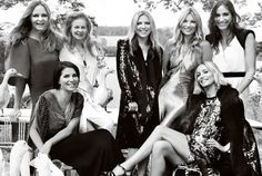 Kate Moss with her family and friends on her wedding, photographed by Mario Testino for Vogue US.