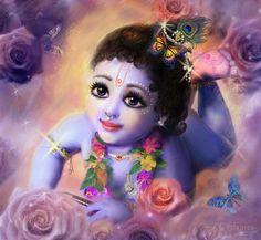 Baby Kaneya Painting by Lila Shravani