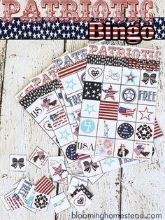 Patriotic 4th of July Bingo - Blooming Homestead