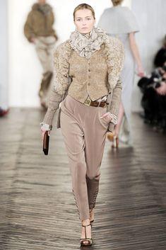 Ralph Lauren Fall 2009 Ready-to-Wear Fashion Show - Valentina Zelyaeva