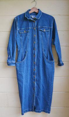 New Listing! Vintage Denim Dress by Chaus Womens Denim Jean by founditinatlanta, $28.00