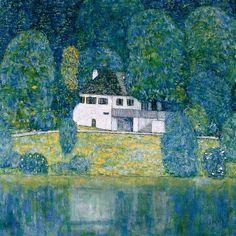 Litzlbergkeller am Attersee (Litzlberg on Lake Attersee), 1915 by Gustav Klimt