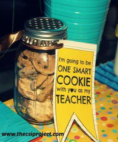 Back to School Teacher Gift - Mason Jar Cookie Jar