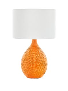 Bessy Table Lamp – 42 cm tall With its unique textures and vibrant base, this table lamp proves the swinging 60s are back in style! As the white shade softens the light around your room, the retro revival is complete as diamond-pattern cascades from a bright and funky yellow down to a mellowed orange.Depth: 260 MMHeight: 415 MMWidth: 260 MM