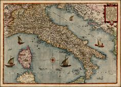 Italy c.1578  Barry Lawrence Ruderman Antique Maps Inc.