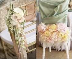 Wedding Ideas: Bold Chair Covers for the Creative Bride. To see more: www.modwedding.com