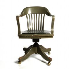 antique deco wooden chair swivel office desk chair art deco desk chair office side armchair
