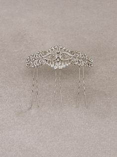 RAMBLAS PEINETA - Peineta de novia sencilla en plata vieja y pedrería