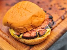 While the meat can't absorb much smoke, cooking a whole bologna low-and-slow transforms the outside into an incredibly crisp and smoky treat that added a lot of flavor and texture to the slab of bologna meat.