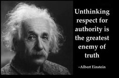 Einstein Politik Amtsgehorsam