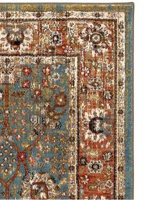 Karastan Spice Market Myanmar Aquamarine Area Rug – Incredible Rugs and Decor Complimentary Color Scheme, Rug Studio, Aqua Area Rug, Global Design, Rugs Online, Woven Rug, Floral Motif, Rugs On Carpet, Carpets