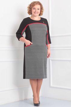 Платье Орхидея Люкс 818 Plus Dresses, Casual Dresses, Skirt Fashion, Fashion Dresses, Pretty Black Dresses, Clothing Store Displays, Mom Dress, Classy Dress, Dress Patterns