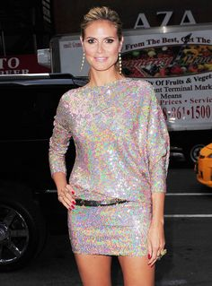 La robe en sequins dHeidi Klum pour assister au Today Show à New York