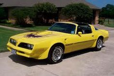 My Favorite Trans Am in canary yellow.  1977/78 Pontiac Firebird Trans Am w/T-tops.