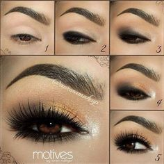 Gorgeous Gold Dust Smoky Eye Tutorial with Aurora Makeup  #auroramakeup #smokyeye #makeuptips #beautytips