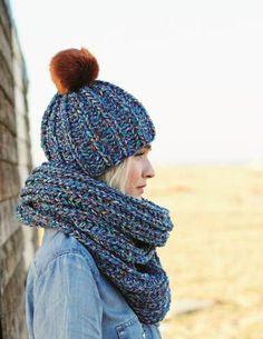 e0060a25d992 De petites pièces vite tricotées   bonnet et snood assortis - La Malle aux  Mille Mailles