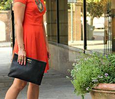Pampers & Pearls || Orange & Leopard! @GiGiNewYork clutch