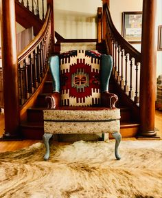 Cowhide Furniture, Cowhide Chair, Western Furniture, Leather Wingback Chair, Redoing Furniture, Reupholster Furniture, Farmhouse Furniture, Upholstered Furniture, Glider Cushions