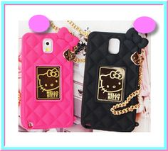 Galaxy S5, S4, Note 3 - Pretty Purse Hello Kitty Case in Assorted Colors