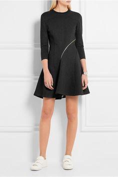 McQ Alexander McQueen   Zip-detailed stretch-jersey mini dress   NET-A-PORTER.COM