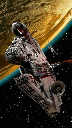 Millennium falcon - Star Wars Ships - Ideas of Star Wars Ships - Star wars ships Star Wars Film, Nave Star Wars, Star Wars Fan Art, Star Wars Poster, Images Star Wars, Star Wars Pictures, Star Citizen, Millennium Falcon, Harison Ford
