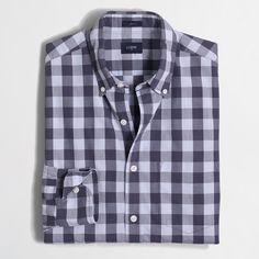 Factory slim washed shirt in double gingham : Shirts | J.Crew Factory