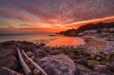 Sunset at Steephill Cove, Ventnor | Isle of Wight Photography by Chad Powell