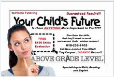 20% New Student #Discount in the Lehigh Valley.  Cannot be combined with other offers or prior sales. #Tutoring