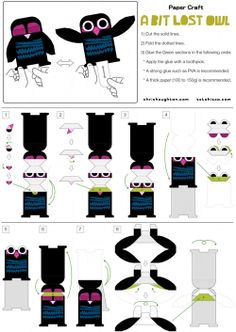 "Free paper toy DIY from Chris Hauhton's book ""A bit lost"" Owl Crafts, Paper Crafts For Kids, Diy For Kids, Chris Haughton, Kinetic Toys, Art Book Fair, Album Jeunesse, Christmas Gifts To Make, Paper Pop"