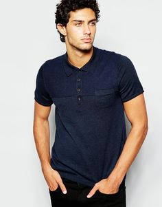 8afd5876d220 BOSS Orange Knitted Polo with Short Sleeves at asos.com