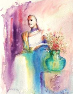 Impression of Life: Goddess Project - Urban Sketchers, Project 3, Watercolor, Portrait, Painting, Life, Art, Pen And Wash, Art Background