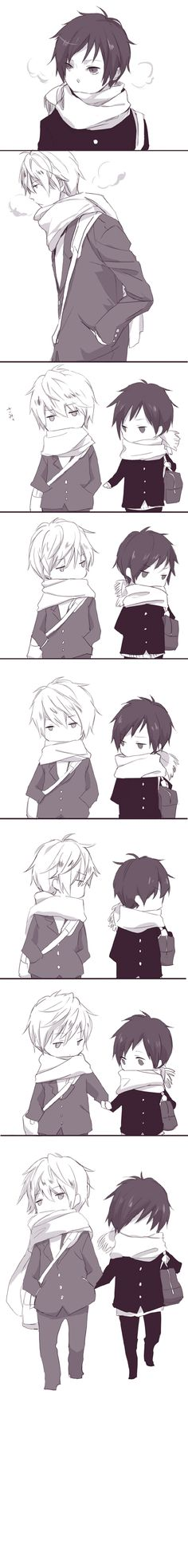 Aww, how cute =P Izaya wants to hold hands~